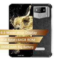 OUKITEL K12 Waterdrop 6.3 FHD + Android 9.0 1080*2340 16MP Smartphone 6GB 64GB Viso ID 10000mAh 5 V/6A OTG NFC Del Telefono Mobile
