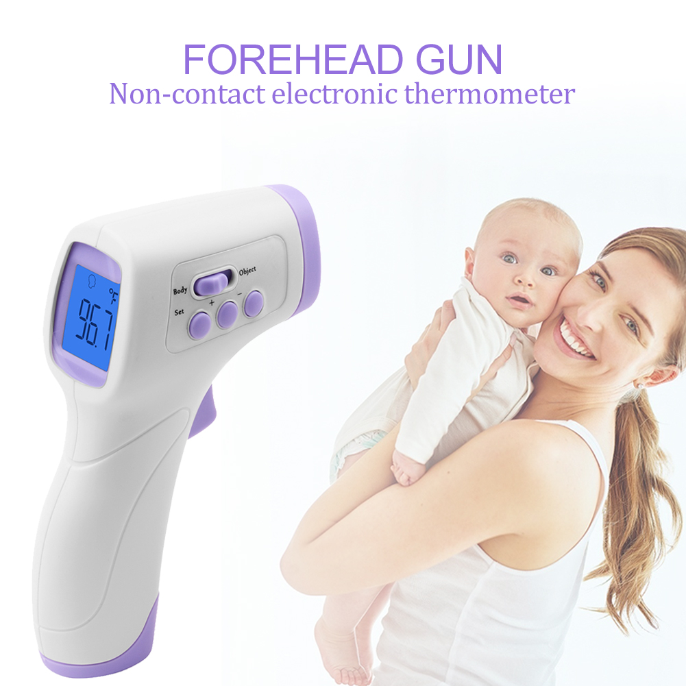 New Portable Design Handheld Non-Contact Electronic Thermometer Baby Adult Forehead Pyrometer Fast Delivery