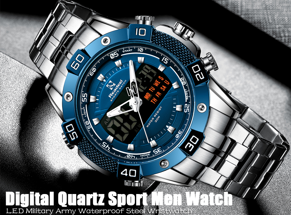 H760049d4b64744b3b84729dd967f4852V 2020 Luxury Brand Waterproof Military Sport Watches Men Silver Steel Digital Quartz Analog Watch Clock Relogios Masculinos