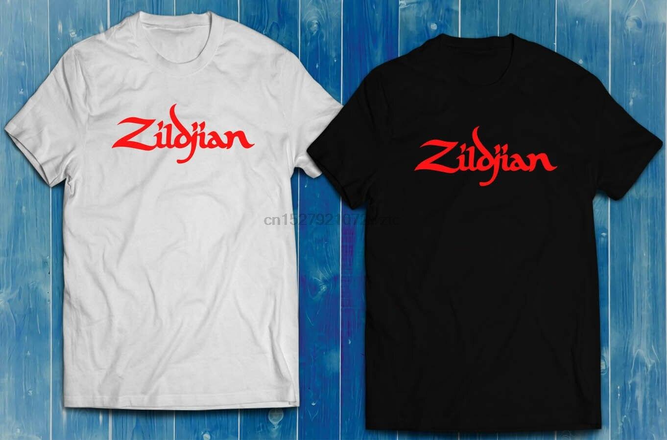 Zildjian Logo Cymbals Drums Drummer Musician Men/'s T-shirt Black White S-2XL