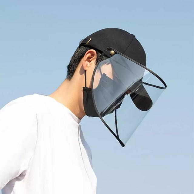 Xiaomi baseball cap Removable windproof and dustproof baseball cap Protective Face Shield Cover Cap Anti Spitting Saliva Drool 2