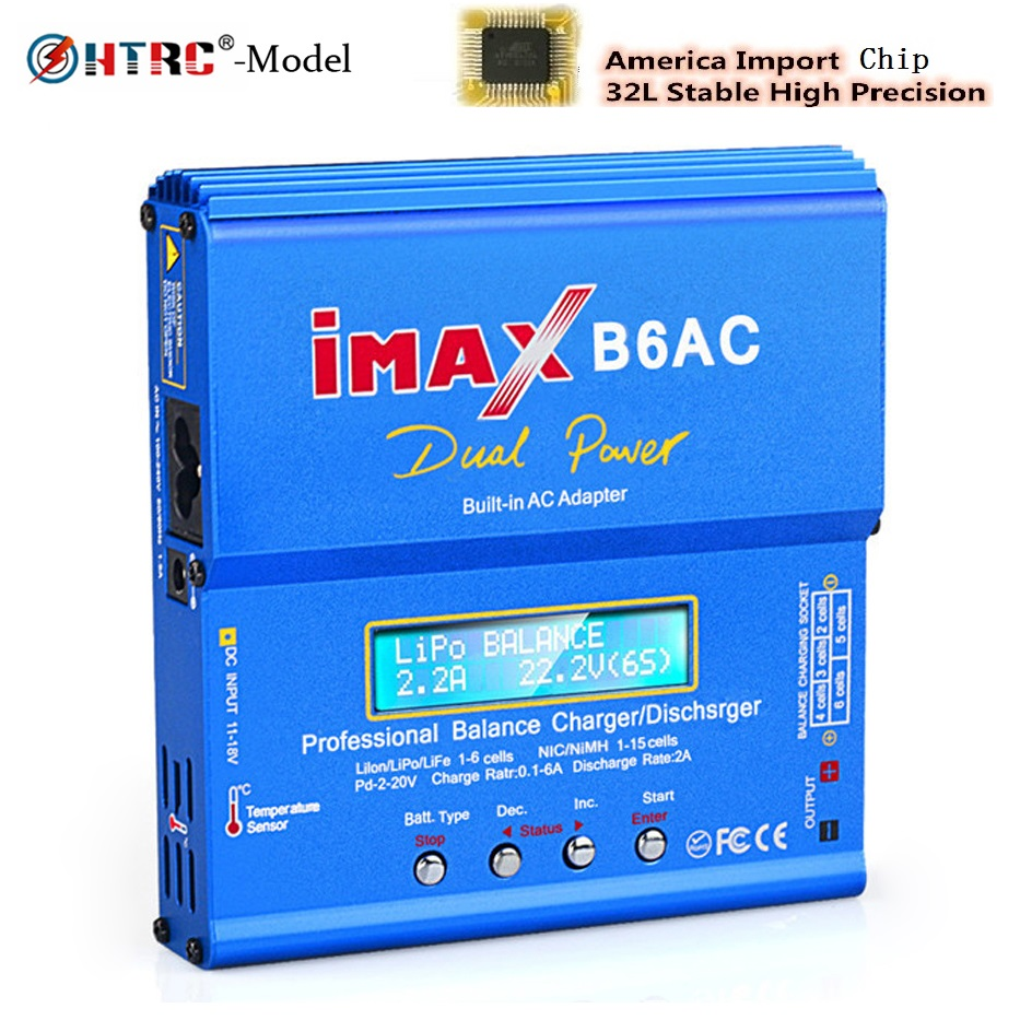 HTRC iMAX mini B6 chargeur ca chargeur de batterie Lipo 80W 6A Nimh Nicd chargeur d'équilibre de batterie déchargeur RC