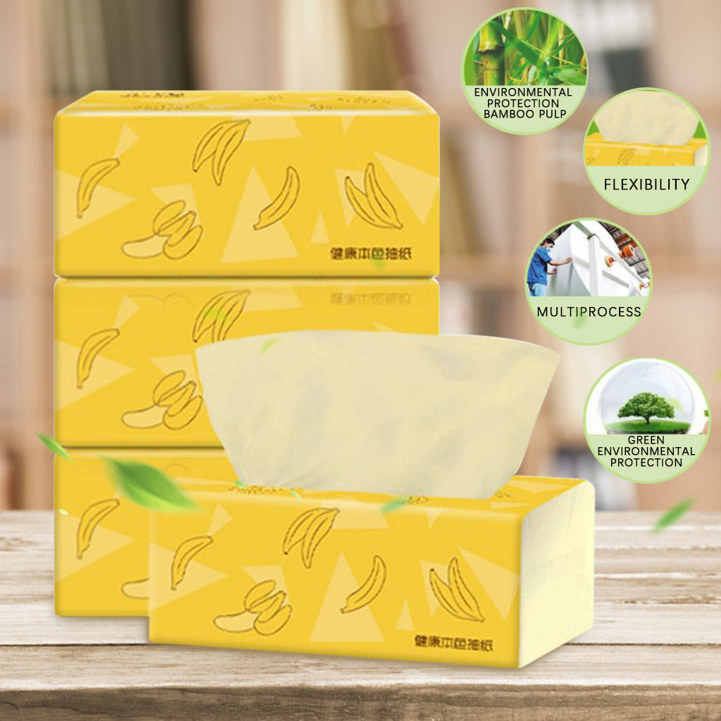 Household Napkin Pumping Paper Toilet Paper Kitchen Cleaning Paper Towel Native Bamboo Pulp Thicken Tissue Paper @3