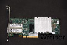 HP NC523SFP QLE3242 двойной порт 10GbE 593742-001 593715 PCI-E NIC сетевой адаптер 2*3 м SFP кабель