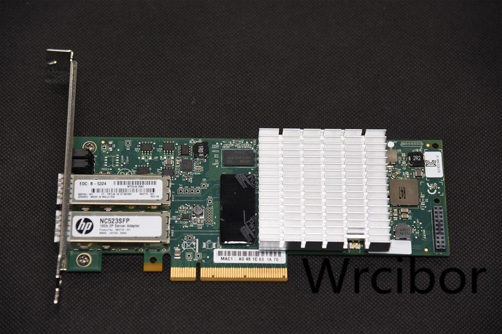 HP NC523SFP QLE3242-HP Dual Port 10GbE 593742-001 593715-001 SFP+ PCI-E NIC Network Adapter 2* 3M SFP+ Cable