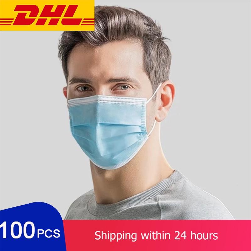 1000pcs Face Mask Masque Maske Facial Masks Flu Face Mask Disposable Mask 3 Ply 50pcs/unit 95%  Mouth Caps For The Face Maskes