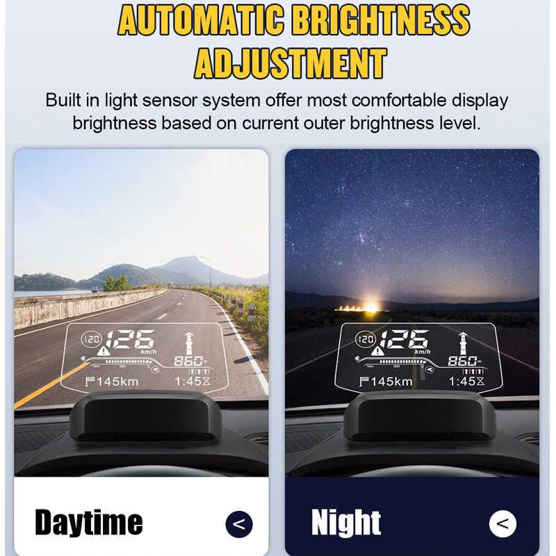 Autool X500 Màn Hình OLED 2IN1 Xe Ô Tô HUD Dẫn Đường GPS OBD OBD2 Máy Quét Trên Tàu Máy Tính Bluetooth Sống GPS Đồng Hồ Tốc Độ chiếu