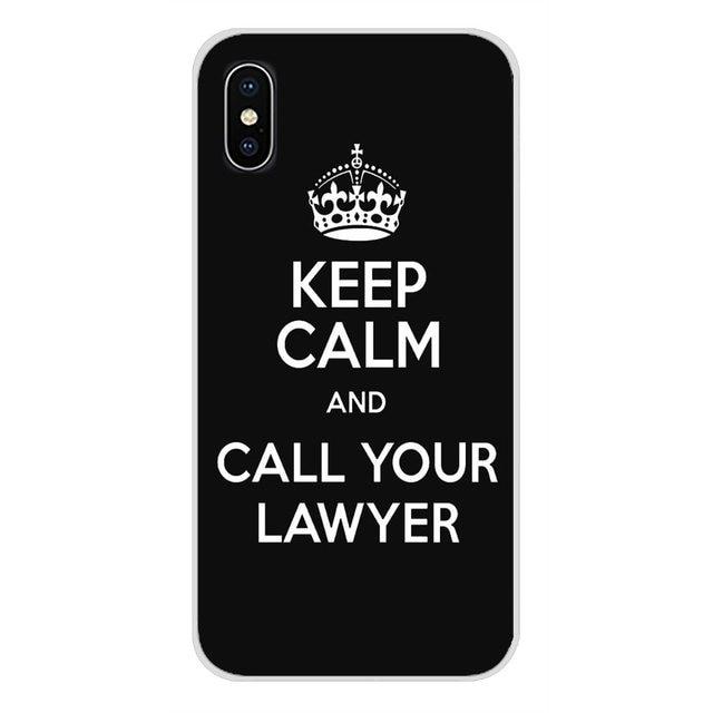 Мобильный телефон чехол с надписью «Keep Calm and Call ваш защитник для Apple iPhone X XR XS 11Pro MAX 4S 5S 5C SE 6S 7 8 Plus ipod 5 6