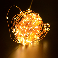 10M 33FT LED Copper Light String Twinkle Garlands Battery Powered Christmas Lamp Holiday Party Wedding Decorative Fairy Lights