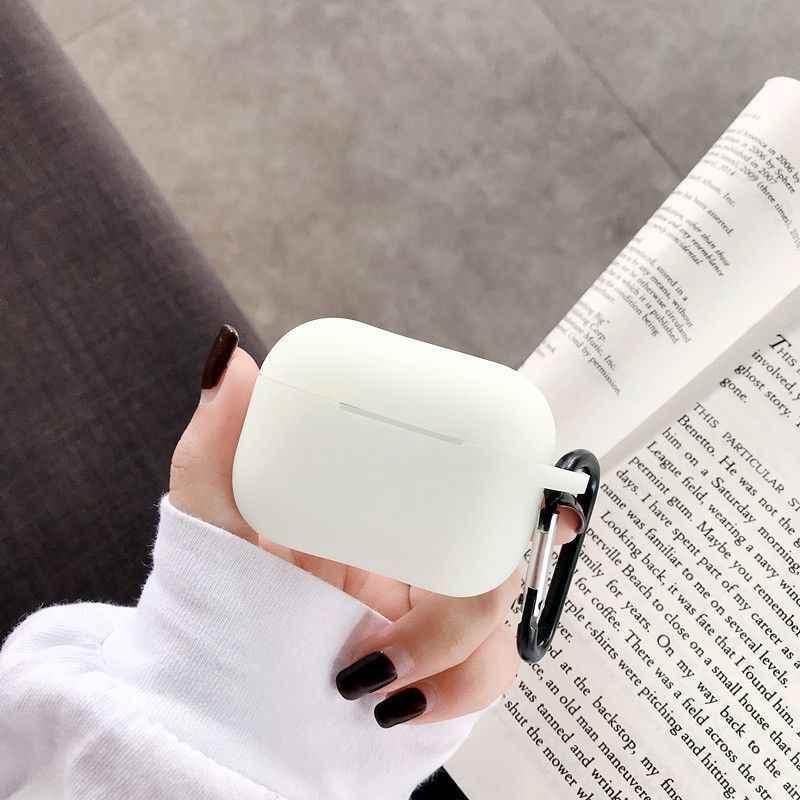 白無地発光シリコーンアップルの Airpods ケース Bluetooth ワイヤレスイヤホン保護ボックス耳ポッドバッグ
