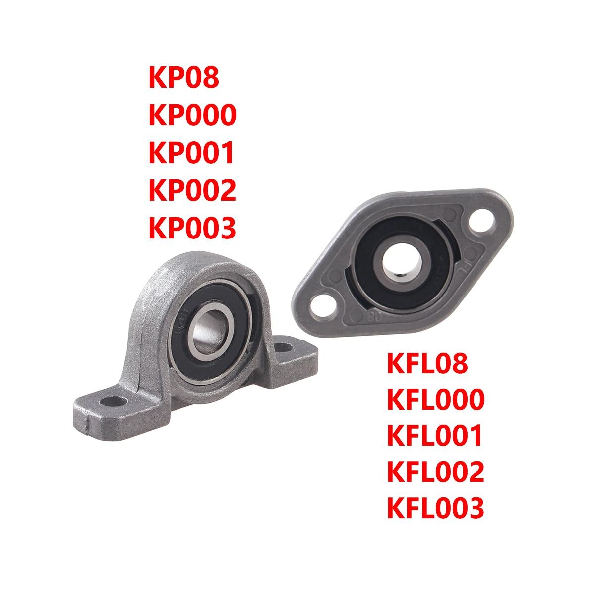 KP08 KP000 KP001 KFL08 Vertical Horizontal Zinc Alloy Mounted Bearing Mount Support Pillow Block Bearing CNC Printer Parts