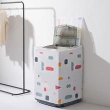 Пылезащитный чехол для стиральной машины цветочный геометрический раскладушка на молнии утолщенный PEVA печатает водонепроницаемый пылезащитный чехол для стиральной машины