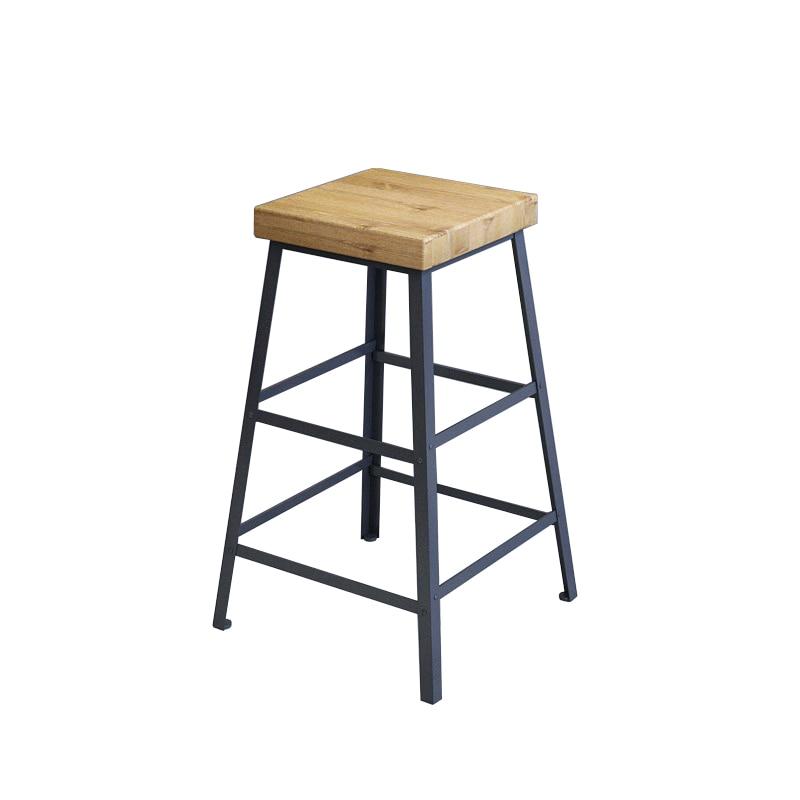 Tieyi Solid Wood Simple Fashion Bar Chair Coffee Bar Chair Bar Stool Stool High Stool Domestic Bar Stool