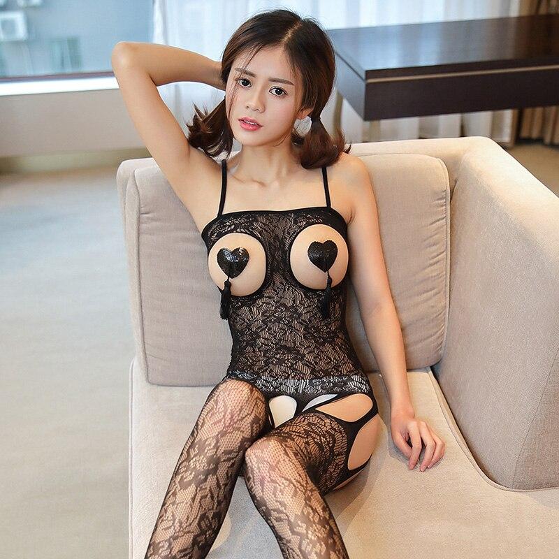 Lencería porno Sexy mujer erótica Lencería caliente productos de sexo Sexy, disfraces, el Color de la ropa interior se desliza de red íntimos vestido productos de