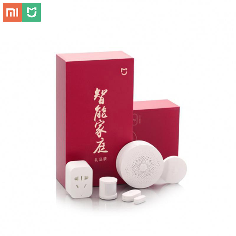Kit de maison intelligente d'origine capteurs de porte de fenêtre capteur de corps commutateur sans fil mi 5 en 1 Kit de sécurité de maison intelligente pour Xiao mi