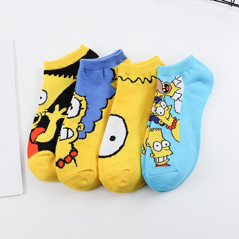 Hot Sale 2019 Anime Breathable Comfortable Women Short Sock New Leisure Motion Straight Short Sock Chaussettes Cartoon