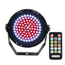 Disco Colorful  Stage Lighting Effect  With Remote Control  DMX Sound Lights  DJ Bar Holiday Party Christmas 91 LED RGB Strobe