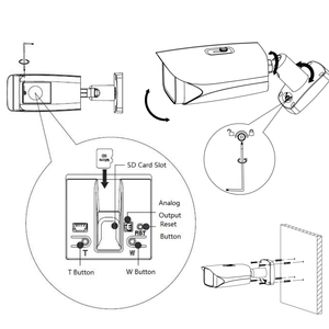 Image 2 - Dahua Original IPC HFW5241E ZE Pro AI 5X ZOOM POE SD Slot Alarm Aduio I/O H.265 IP67 IK10 50M IR Erweiterbar Kugel IP Kamera