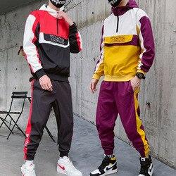 Hot Sale Mens Hoodie Suit Autumn/winter Men's Jacket and Harem Pants Loose Big Yards Tracksuit Men Korean Sweatpants Jacket