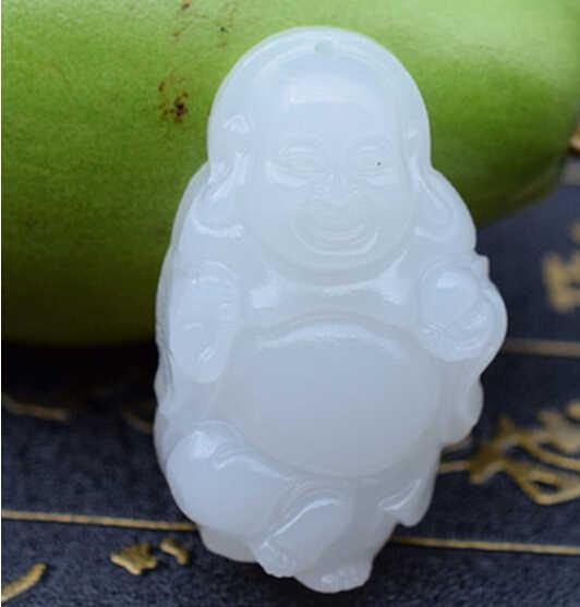 1115 + + + Afghanistan pendentif bouddha en pierre blanche Jade en Maitreya