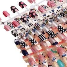 24 pçs capa completa unhas falsas colorido curto unhas dicas formas para extensão brilhante acrílico falso unha manicure accessises