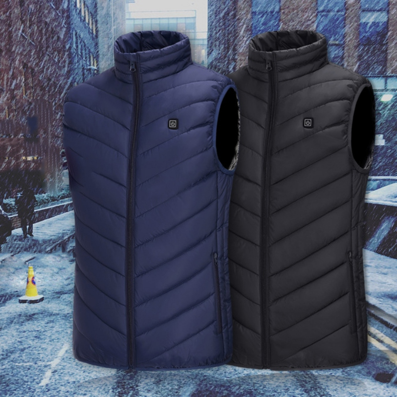 Heated Vest Jacket Heated Outdoor Electric Winter Thermal Cloth Camping Hiking