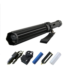 Baseball self-defense Tactical flashlight  xmL T6 led powerful light 18650 extensible defense led torch Telescopic lantern