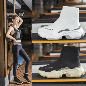 Image 3 - SWYIVY גרב סניקרס נשים 2019 חדש סתיו סריגה שחור סניקרס נקבה נעליים יומיומיות נעלי טריזים נשים קרסול מגפי לבן