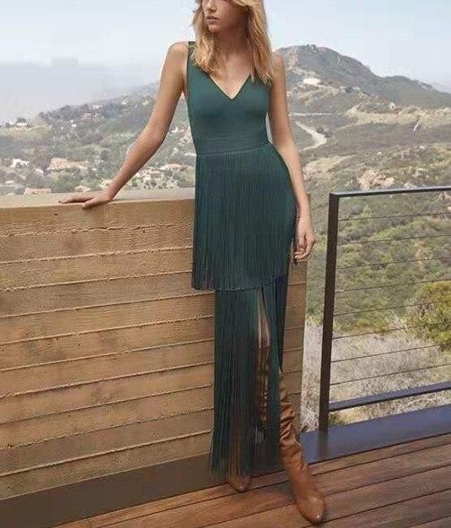 Haute qualité gland robe de pansement mode boîte de nuit robe femmes élégant célébrité fête robe Sexy