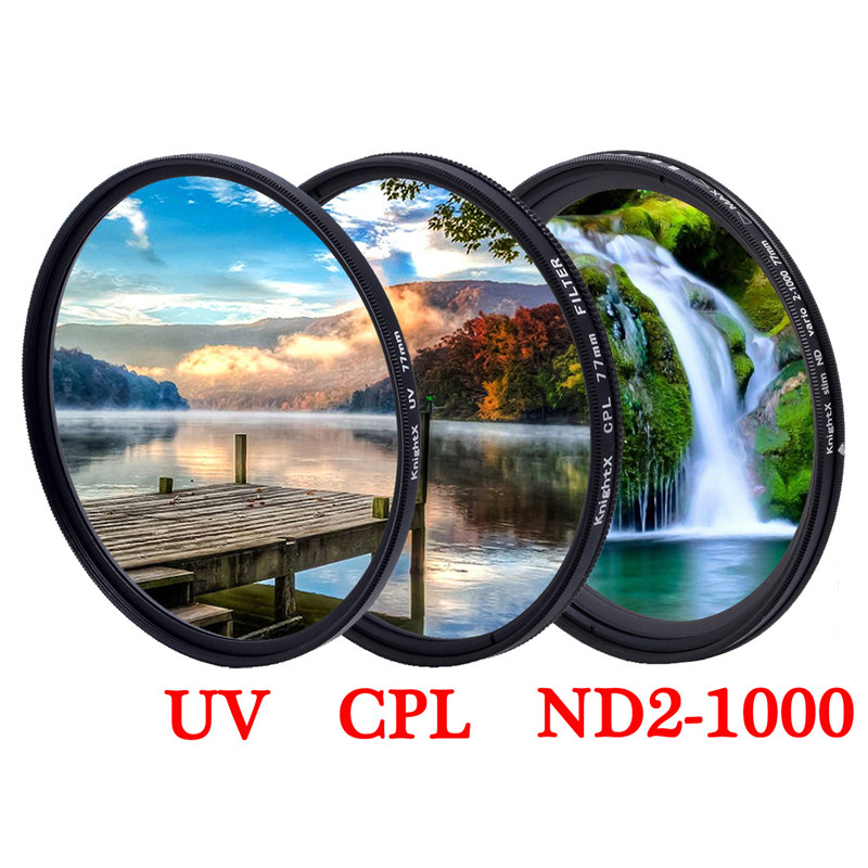ND UV CPL Filter 10pcs 55-67 55-72 55-77 58-67 58-72 58-77 62-72 62-77 67-77mm Metal Step Up Rings Lens Adapter Filter Set 55-67mm