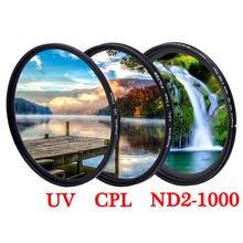 Фильтр объектива uv cpl nd star с регулируемой яркостью для