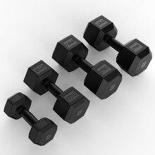 Dumbbell Men's Home Fitness Equipment 5KG10KG Ladies Rubberized Fixed Dumbbell Set Gym Equipment