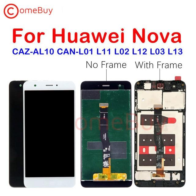 Dla Huawei Nova wyświetlacz LCD ekran dotykowy Digitizer montaż dla Huawei Nova wyświetlacz z ramką CAN L11 CAN L01 ekran wymienić