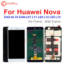 Huawei Nova için LCD ekran dokunmatik ekran Digitizer meclisi için Huawei Nova ekran çerçeve ile CAN L11 CAN L01 ekran yerine