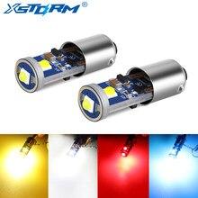 2 pces ba9s lâmpada led t4w led canbus interior do carro luzes marcador cúpula readling lâmpada da placa de licença 12v branco vermelho amarelo azul