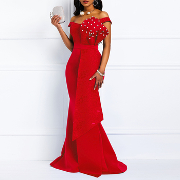 Bodycon Red Mermaid Party Dress