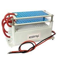 Gerador de ozônio cerâmico 220 v/110 v 10g duplo integrado longa vida placa cerâmica ozonizador purificador ar água|Purificadores de ar| |  -