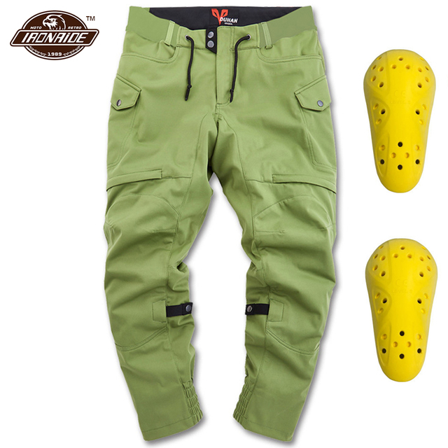 DUHAN Casual Motorcycle Pants Men Motocross Pants Waterproof Moto Protection Anti fall Motorcycle Riding Trousers 3 Colour