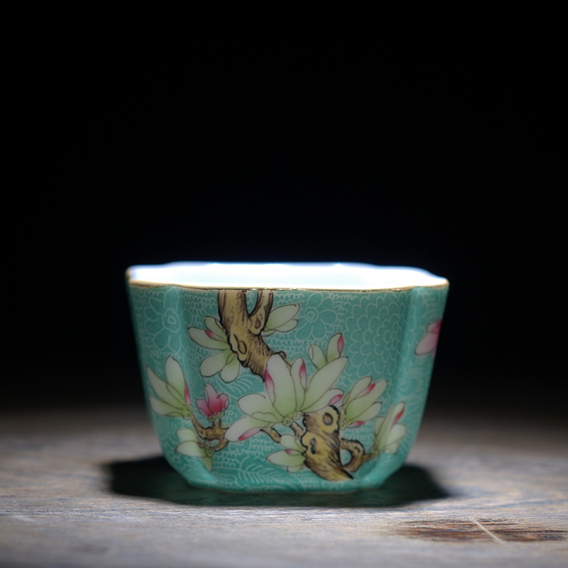 Special Price Authentic Hand Painted Pastel Rolling Road Four Season Flowers Pattern Delicate Small Ceramic Tea Cup Cups Saucers Aliexpress