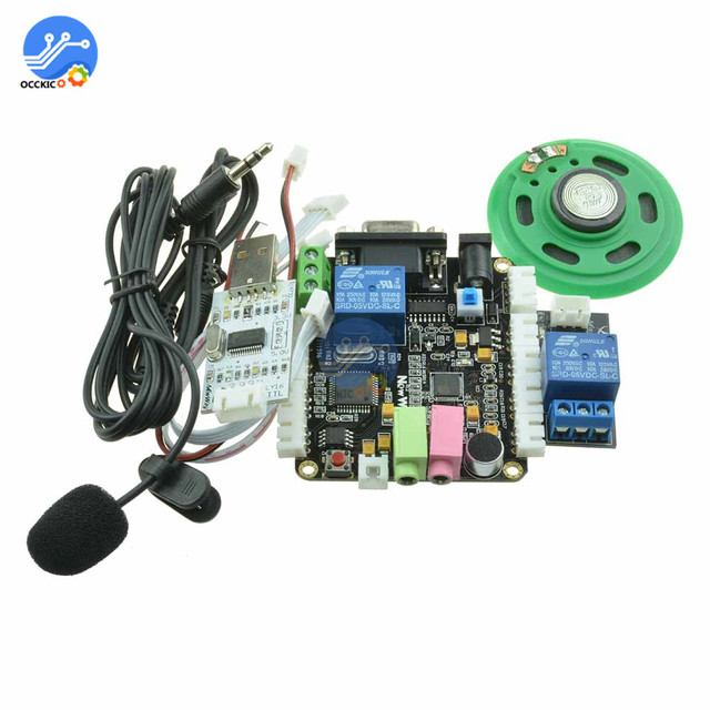 Voice Recognition Module DIY Kit With Microphone Speech Recognition Voice Control Sound Module For Arduino Compatible