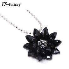 цена на Retro Black Dahlia Choker Necklace Avengers Spiderman Crystal Flower Pendant Necklace for Women Men Jewelry Gift