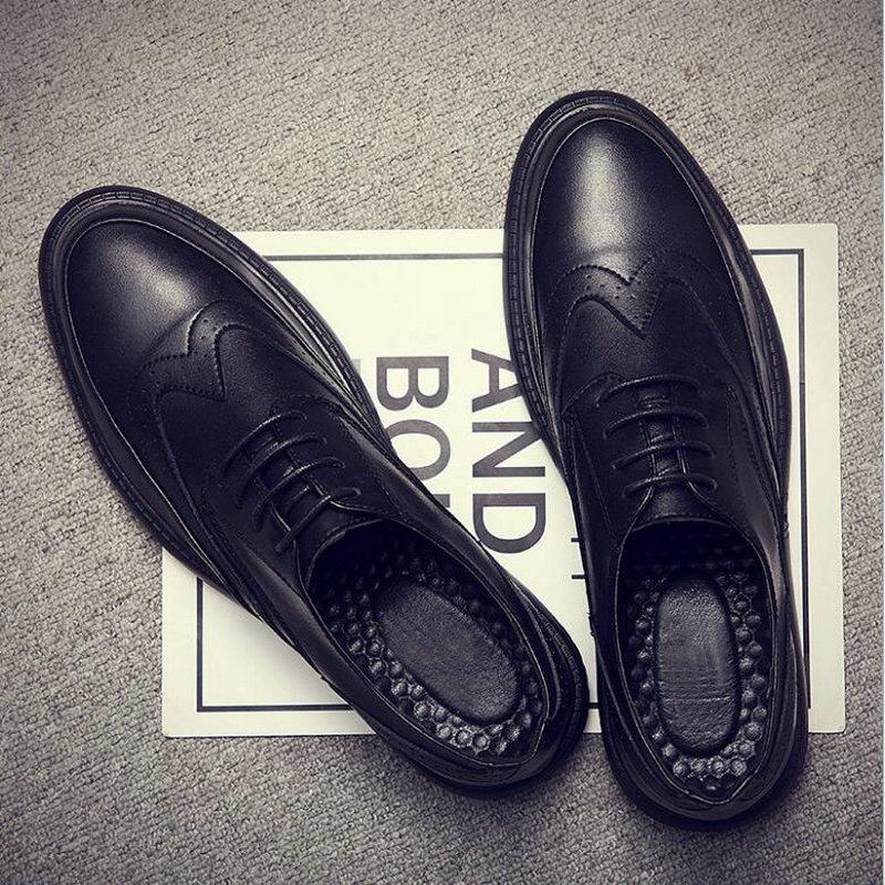 Fashion Men Wedding Shoes Footwear  Men Dress Shoes 2019 New Brand Men's Business Shoes Italian Style Oxfords  VV-25