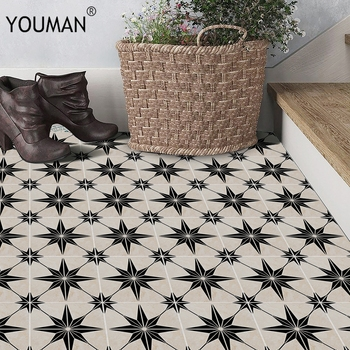 цены YOUMAN Europe Waterproof Imitation Tile Wall Stickers Retro Bathroom PVC Floor Wall Sticker DIY Home Decor Art Wallpaper Borders