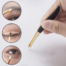 Excellent Quality Eyebrow Tweezer Golden Head Stainless Steel Tweezer Eyelash Clip Hair Removal Makeup Tool