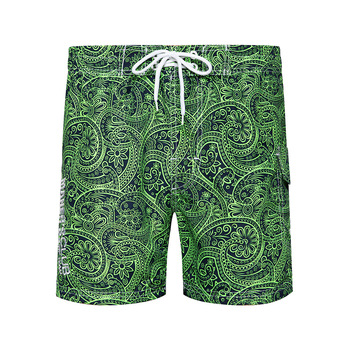 Summer Casual Mens Beach Shorts Loose-Fit Surfing Shorts Straight-Cut Shorts Men's New Style Printed Board Shorts