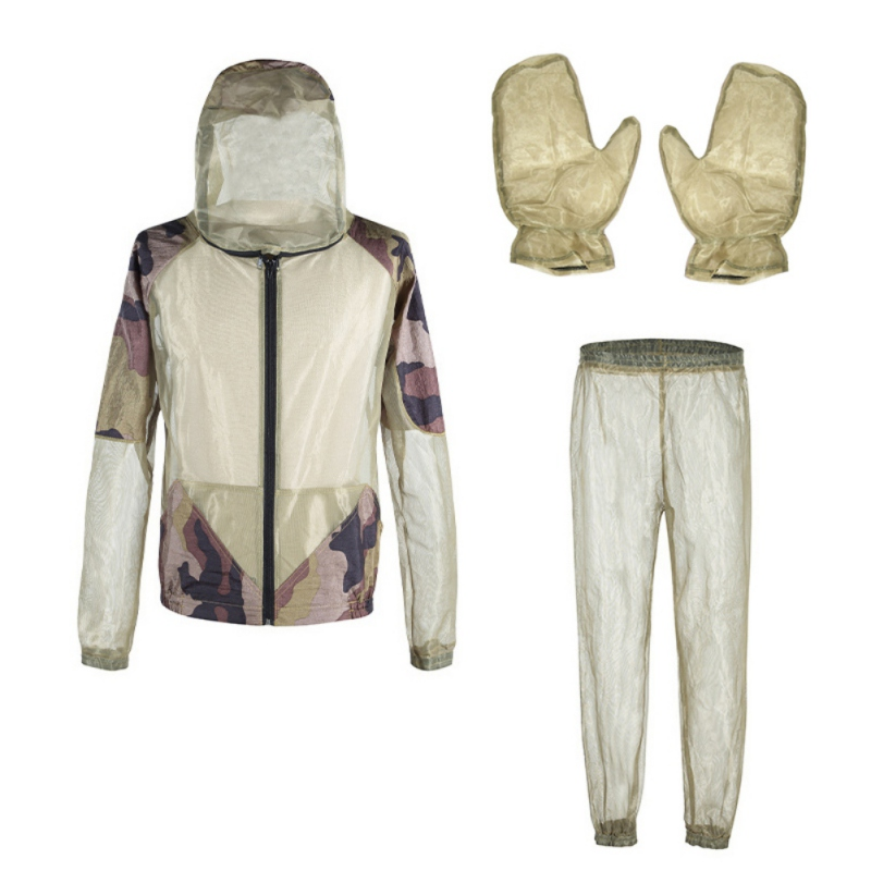 Outdoor Fishing Jerseys Mosquito Repellent Suit Anti Mosquito Clothes With Hat Beekeeping Cloth Anti Fly Hunting Mosquito Jacket