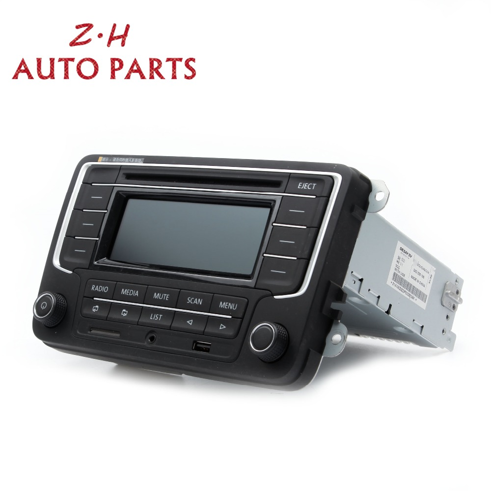NIEUWE RCD510 Autoradio USB AUX CD SD Input MP3 Speler 3AD 035 185 Voor VW Jetta Golf MK5 MK6 passat Tiguan 3AD035185 RCD 510 - 2