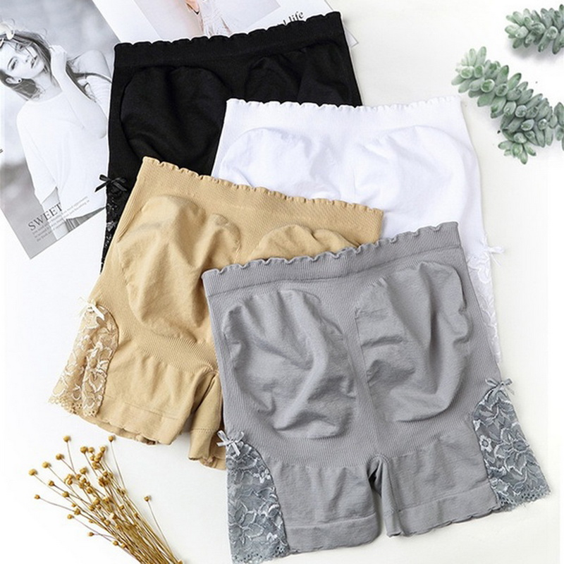 2020 New Women Sexy Lace Tummy Control Panties Sports  Leggings Fitness Shapewear Leggings Gym Workout Running Wear Casual 2