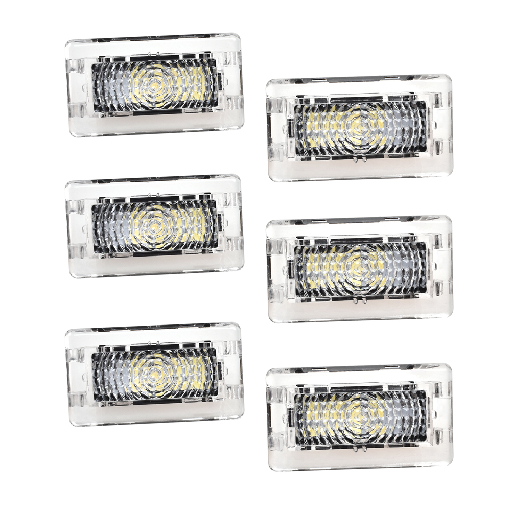 6 pièces lumière LED Kit D'ampoules Pour Tesla Modèle 3 Model S Modèle X Lumineux Prise Facile Remplacement LED Intérieur Éclairage Intérieur Lampe de Coffre