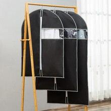 Чехол для одежды для защиты от пыли нетканый тканевый чехол для домашнего подвесного типа пальто костюм Защита сумка для хранения Органайзер для гардероба